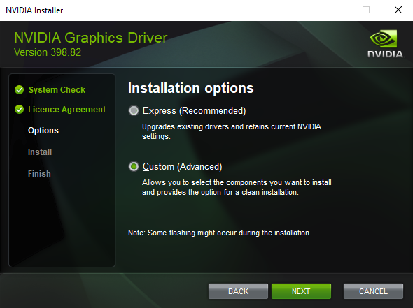 Reinstalling NVIDIA Software and Drivers